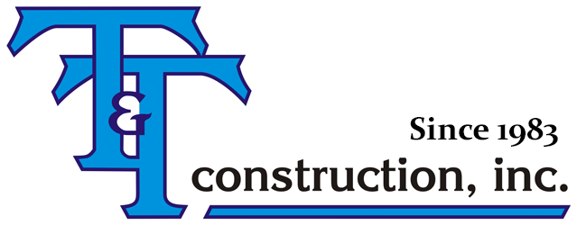 T & T Construction Company Logo